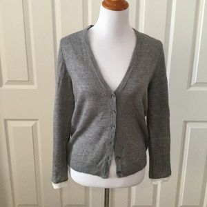 J. Crew Mercantile Lace Trimmed Cardigan NWT